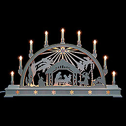 Candle Arch  -  Nativity Scene with Star and Base  -  78x45cm / 31x18 inch