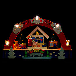 Candle Arch  -  Santa Claus and Battery  -  22cm / 8.6 inch