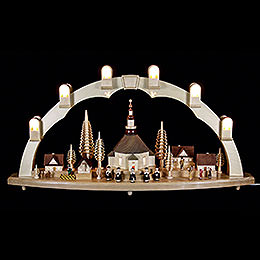 Candle Arch Seiffen church with Village  -  31 x 16 inch  -  80 x 41cm