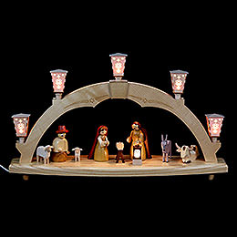 Candle Arch The Birth  -  electrical  -  48cm / 19 inch