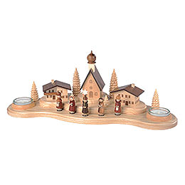 Candle Holder  -  Alpine Village  -  16cm / 6 inch