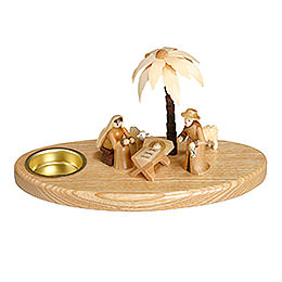 Candle Holder  -  Nativity  -  11cm / 4 inch