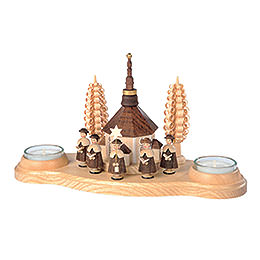 Candle Holder Seiffen Church  -  11cm / 4 inches
