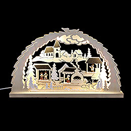 Candle arch Christmas market  -  62x37x4,5cm / 24.4x14.6x1.7inch
