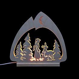 Candle arch  -  LED - Leuchter Jäger  -  30x28,5x4,5cm / 12x11x2 inch