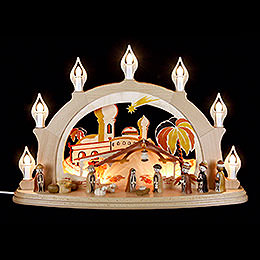 Candle arch Nativity  -  58x39cm / 23x15inch