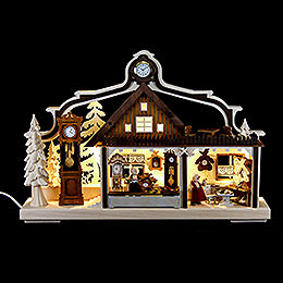 Candle arch clock maker workshop  -  43x30cm / 17x11.8inch