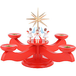 Candle holder advent red  -  29x29x26cm / 11.4x11.4x10.2inch