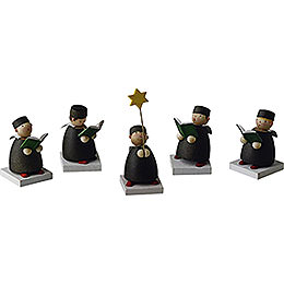 Carolers Set of Five  -  3,5cm / 1.3 inch