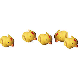 Chicks, set of five  -  1cm / 0.4inch