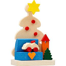 Christbaumschmuck Christbaum mit Spielzeugkiste  -  5,5cm