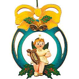 Christbaumschmuck Engel/Kugel/Laute  -  10cm