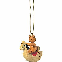 """Christbaumschmuck """"Teddy auf Schaukelpferd""""  -  5cm"""