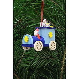 Christbaumschmuck Weihnachtsmann im Truck  -  7,2cm