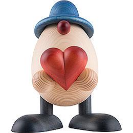 Eierkopf Vater Hanno mit Herz, blau  -  15cm