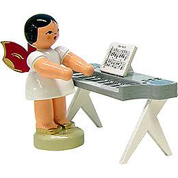 Engel am Keyboard  -  Rote Fl�gel  -  stehend  -  6cm