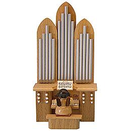 """Engel an der Orgel mit Spielwerk """"O Tannenbaum""""  -  natur  -  stehend  -  6cm"""