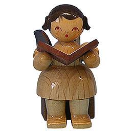 Engel mit Buch  -  natur  -  sitzend  -  5cm