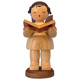 Engel mit Buch  -  natur  -  stehend  -  9,5cm