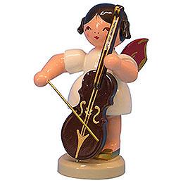 Engel mit Cello  -  Rote Flügel  -  stehend  -  9,5cm