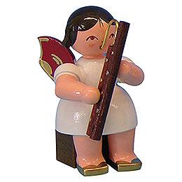 Engel mit Fagott  -  Rote Fl�gel  -  sitzend  -  5cm