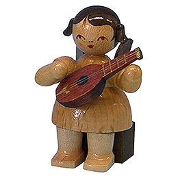 Engel mit Mandoline  -  natur  -  sitzend  -  5cm