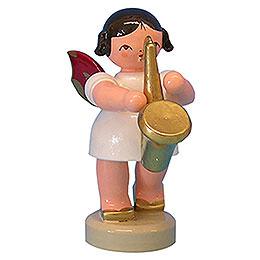 Engel mit Saxophon  -  Rote Flügel  -  stehend  -  6cm