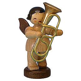Engel mit Tuba  -  natur  -  stehend  -  6cm