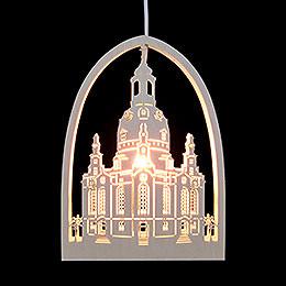 Fensterbild Frauenkirche  -  21,5x29,5cm
