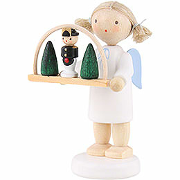 Flax haired angel with candle arch  -  5cm