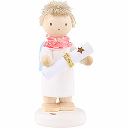 "Flax haired angel with poem roll (inclusive poem ""Flax haired angel"")  -  5cm"