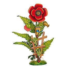 """Floral Island """"poppy""""  -  14cm / 5,5 inch"""