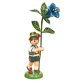Flower child boy with Gentian   -  11cm / 4,3inch