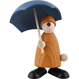 Gratulant Charlie mit Schirm, gelb  -  9cm