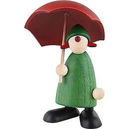 Gratulantin Louise mit Schirm, grün  -  9cm