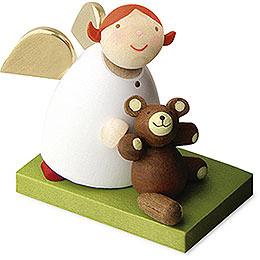 Guardian Angel with Teddy Bear  -  3,5cm / 1.3 inch