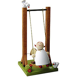 Guardian angel on swing  -  3,5cm / 1.3inch