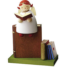 Guardian angel reading, on book  -  3,5cm / 1.3inch