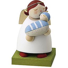 Guardian angel with baby  -  boy  -  3,5cm / 1.3inch