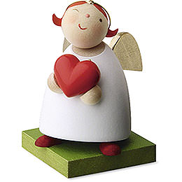 Guardian angel with heart  -  3,5cm / 1.3inch
