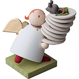 Guardian angel with plates  -  3,5cm / 1.3inch