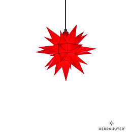Herrnhuter Moravian Star A4 Red Plastic  -  40cm/16 inch