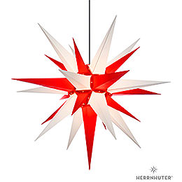 Herrnhuter Moravian star A13 white/red plastic  -  130cm/51inch