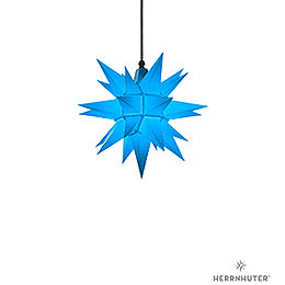Herrnhuter Moravian star A4 blue plastic  -  40cm/16inch