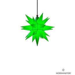 Herrnhuter Moravian star A4 green plastic  -  40cm/16inch