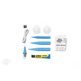 Herrnhuter Moravian star DIY kit A1b blue plastic  -  13cm/5.1inch
