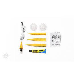 Herrnhuter Moravian star DIY kit A1b yellow plastic  -  13cm/5.1inch
