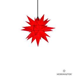 Herrnhuter Stern A4 rot Kunststoff  -  40cm
