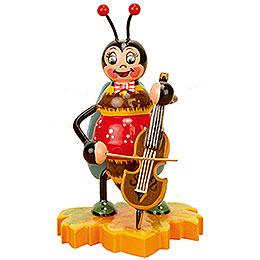Hummel mit Cello  -  8cm