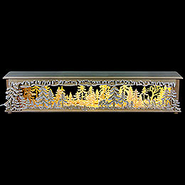 Illuminated Stand Forest Clearing with White Frost for Candle Arches  -  70x12x12cm / 28x5x5 inch